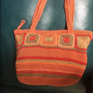 """""""The Sak"""" Zipped Hobo Crochet Handbag"""